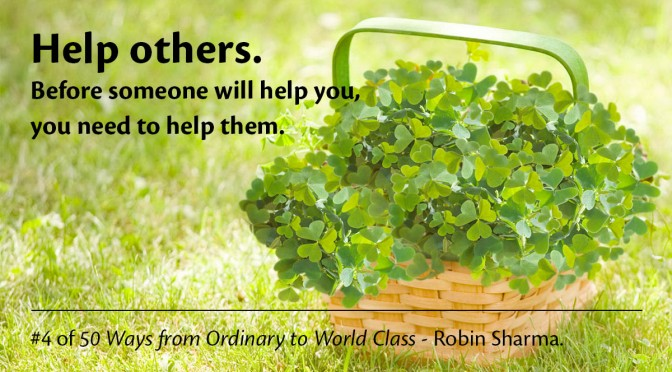 Help Others – Robin Sharma