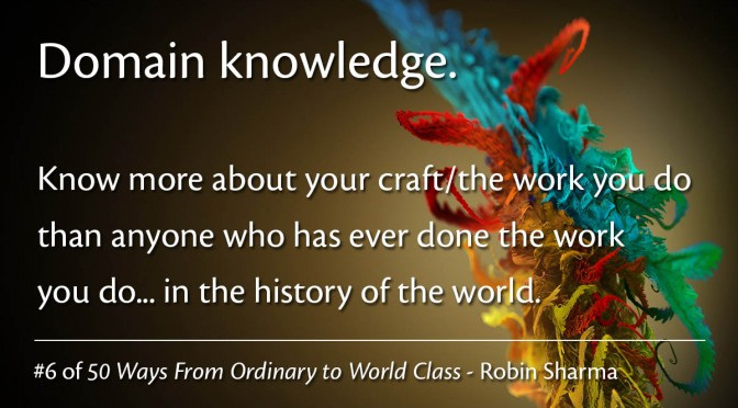 Domain knowledge – Robin Sharma